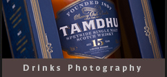 Drinks Product photography advertising Tamdhu whisky